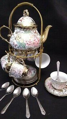 13 pc chinese tea set tea pot