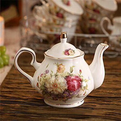 15 Piece European Tea Sets China Set White
