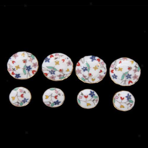 15pcs Miniature Dish Cup Plate Porcelain Tea New