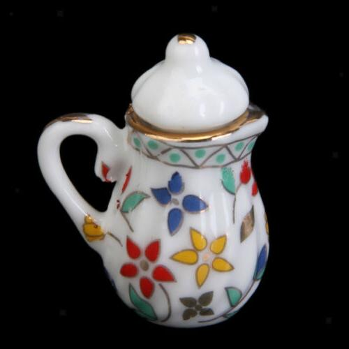15pcs Dollhouse Miniature Dish Cup Dining Ware Porcelain China New