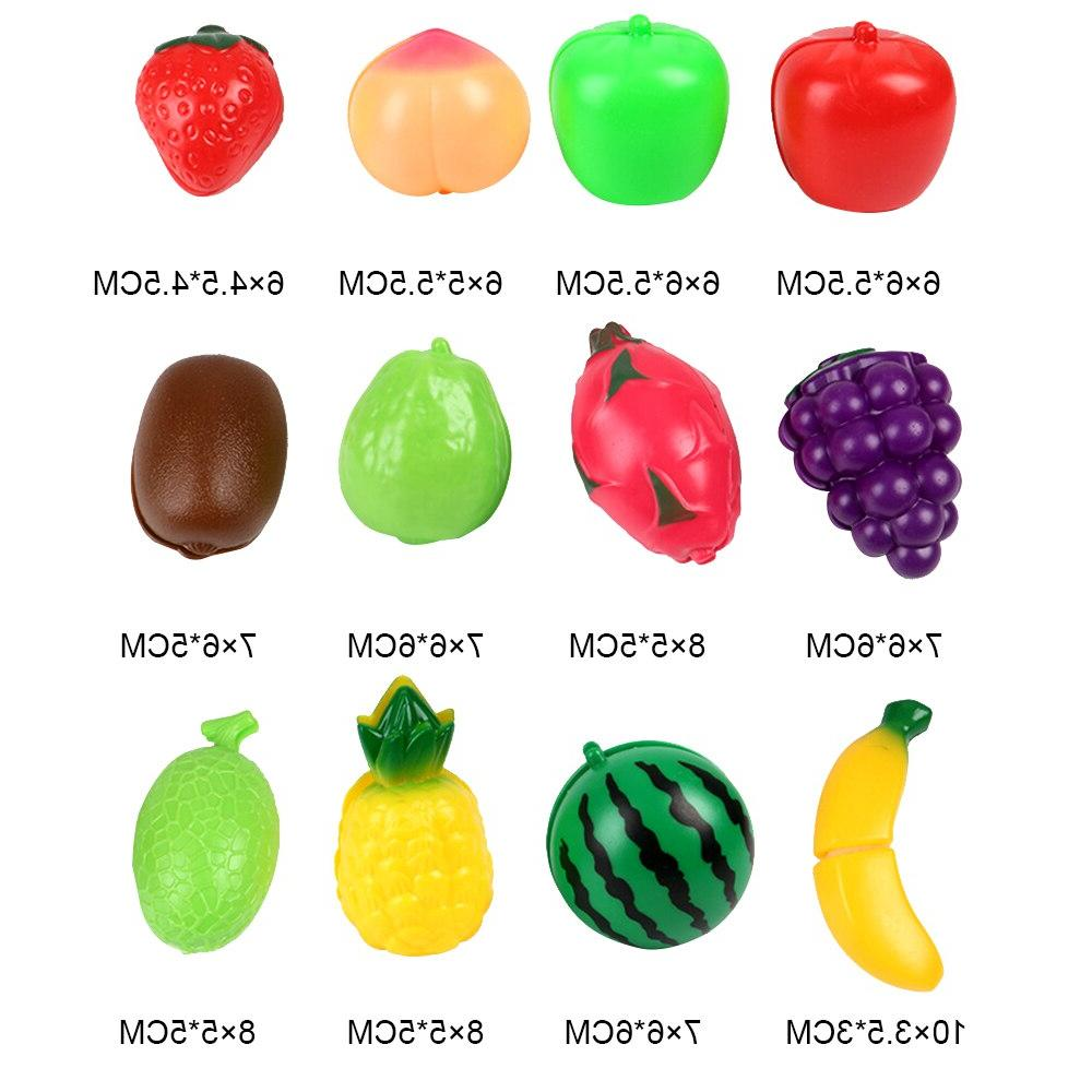 19Pcs House Toy Fruit Kids Pretend Play Educational Toys