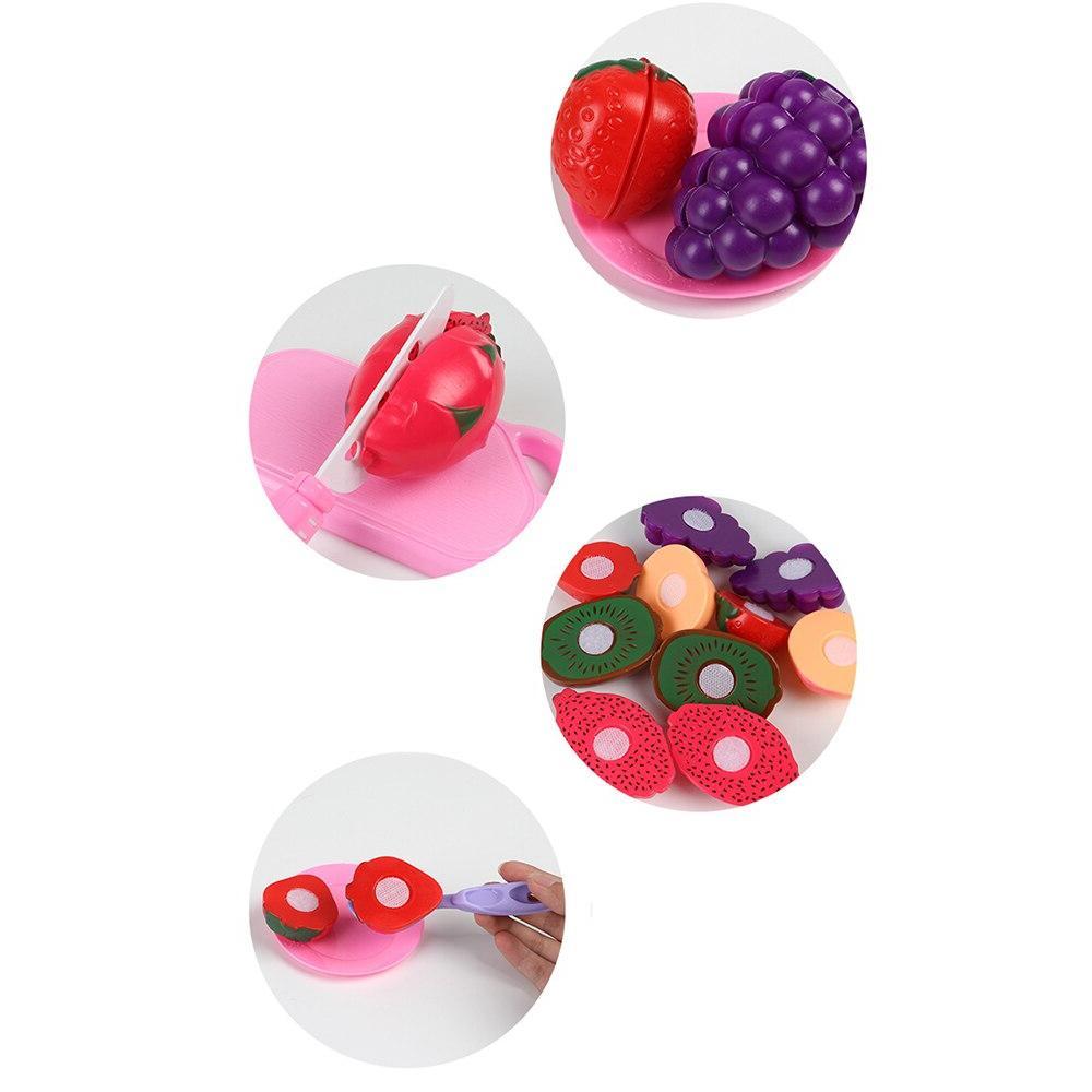 19Pcs Safe House Toy Plastic Food Fruit Kids Play Toys