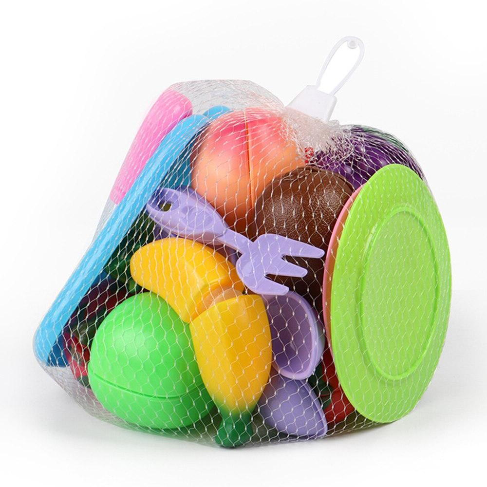 19Pcs <font><b>Children</b></font> Play House Toy <font><b>Set</b></font> Plastic Food Toy Fruit Kids Toys