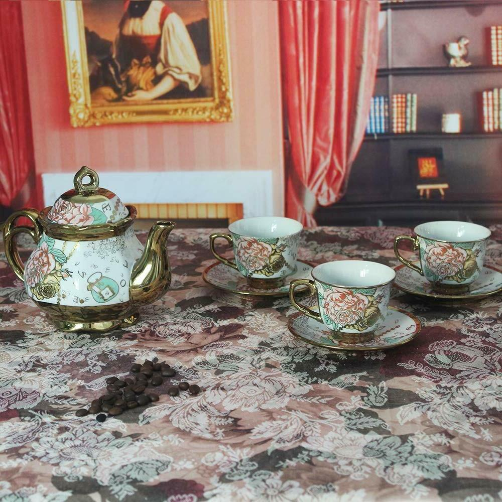 20 European Tea SetWith Metal Holder