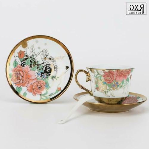 22pcs Royal Tea Set Household Pot Cup&Saucer Tank