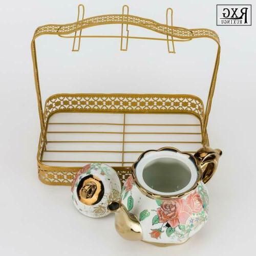 22pcs Set Household Ceramic Cup&Saucer Tank