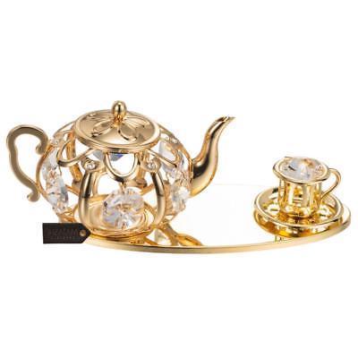 24K Tea Set Ornament Genuine Matashi