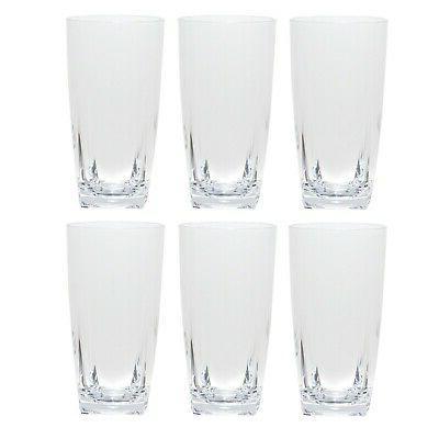 26 oz clear acrylic plastic glass iced