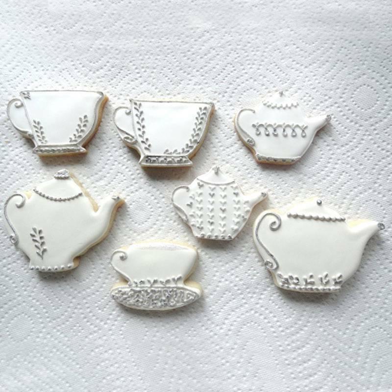 2pcs Stainless Metal Cake Cup Set Cookie Set
