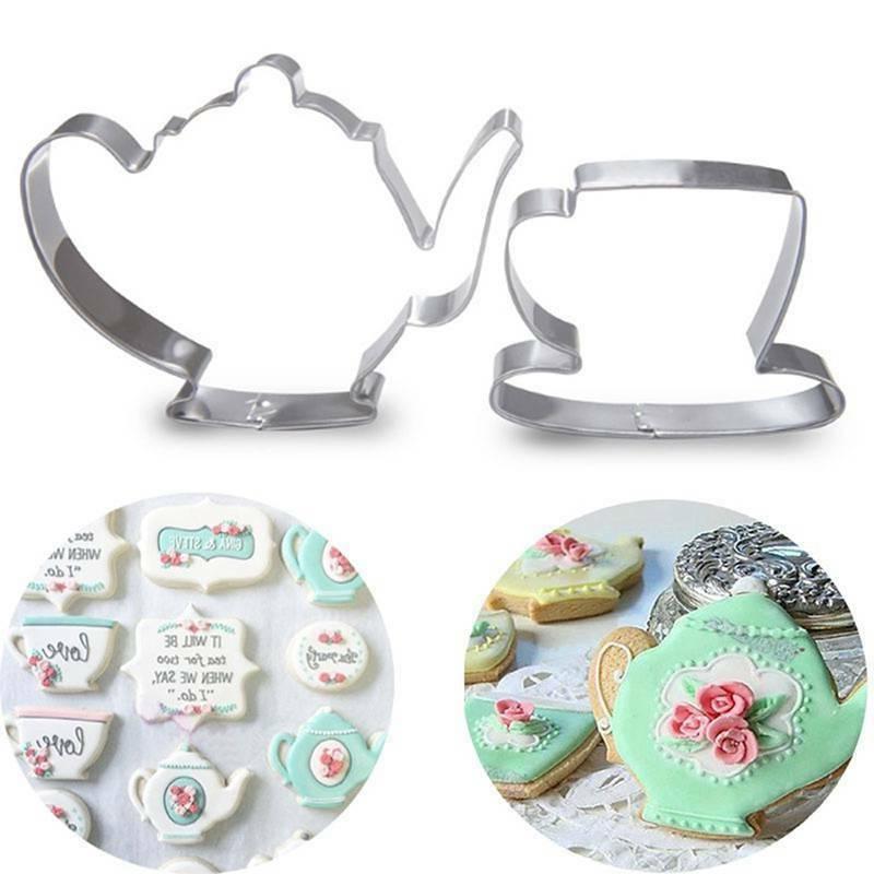 2pcs Cake Mold Teapot Cup Set Set