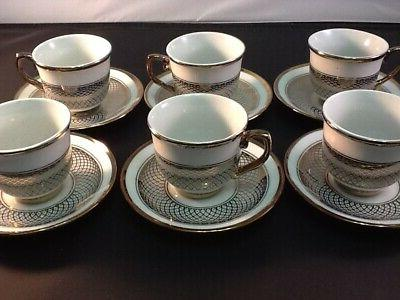 3 oz Espresso 12 piece Cup Saucer Set 703 3oz cups