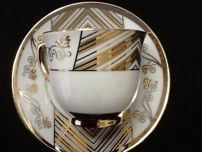 3 oz Espresso coffee.12 pc Cup and Saucer Set.Tea set Large