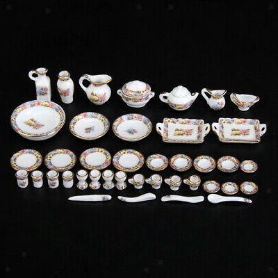 40pcs 1 12 dollhouse miniature dining ware