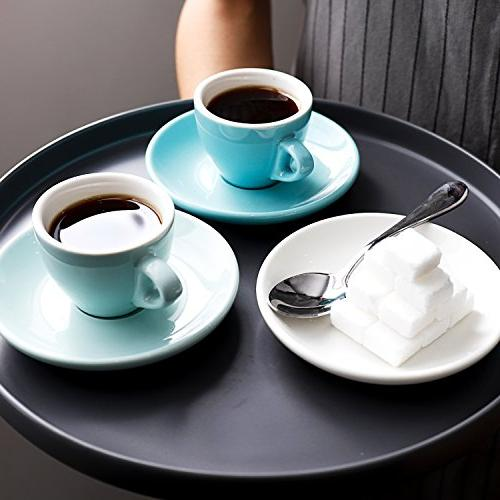 Sweese Porcelain Espresso Cups with 2 Set of Hot Colors