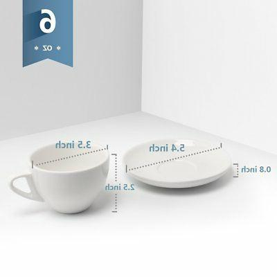 Sweese 4306 Cappuccino Cups with 6 Ounce for