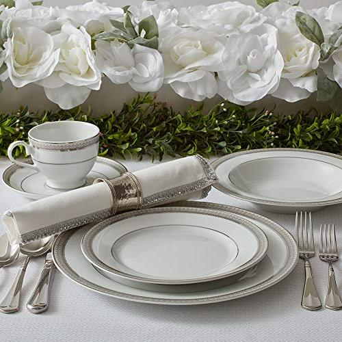 Mikasa 5224199 Platinum 40-Piece Dinnerware for