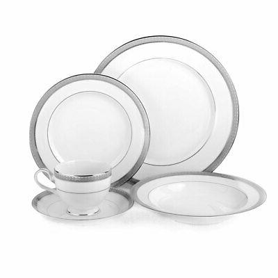 5224199 platinum crown dinnerware set