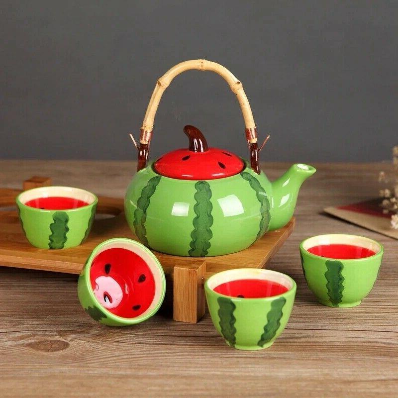 5pcs/set Tea Kung Watermelon Drinkware Set Sh
