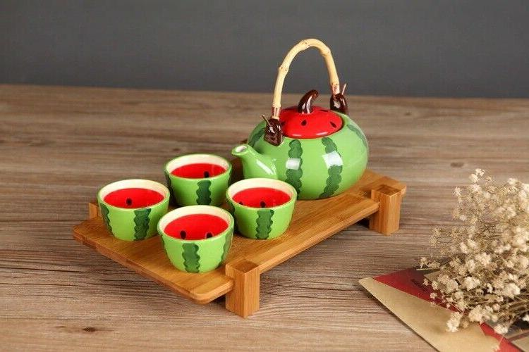 5pcs/set Kung Fu Watermelon Tea Set Set