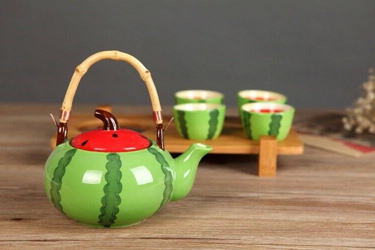 5pcs set ceramic tea set kung fu