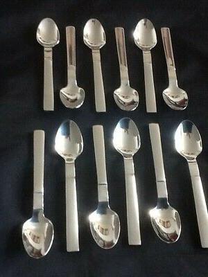 12 Demitasse Set Mini Coffee Stainless Steel Dozen Tiny