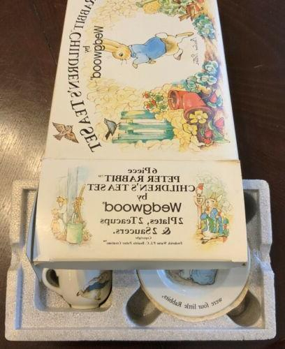 6 Children's Set Wedgwood Plates Saucers