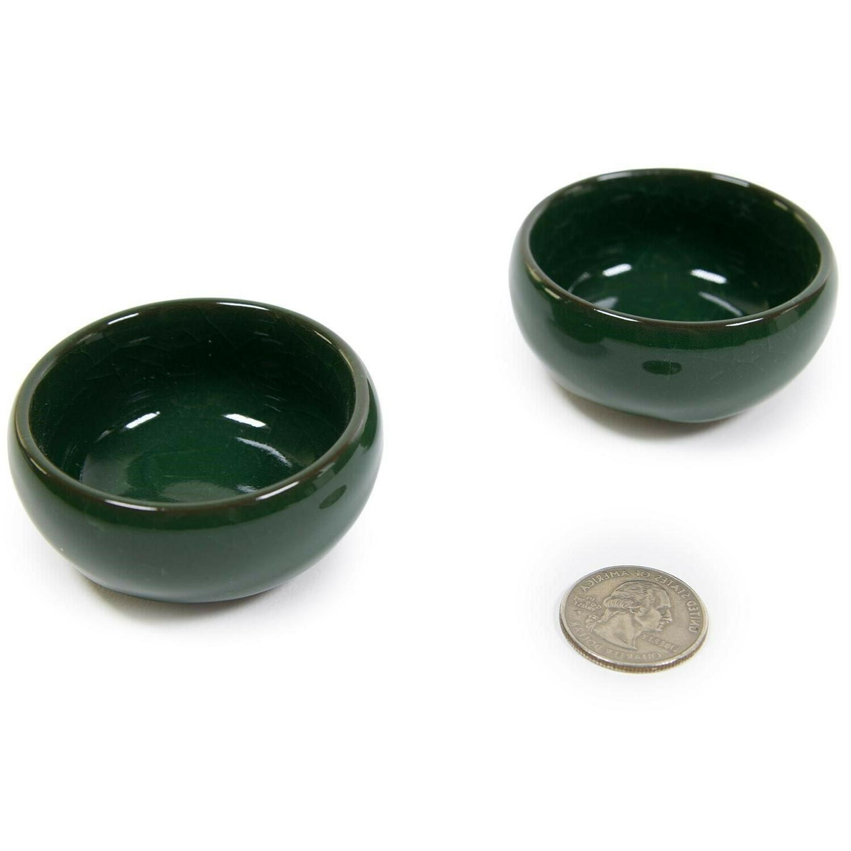 7 Set Fu Porcelain Tea Cups Green