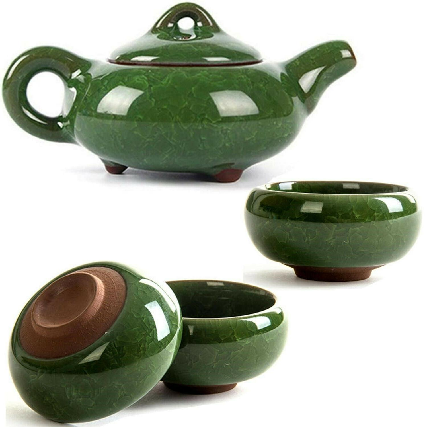 7 piece chinese tea set traditional kung