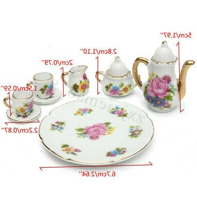8pcs 1/6 Dining Cup Plate Rose
