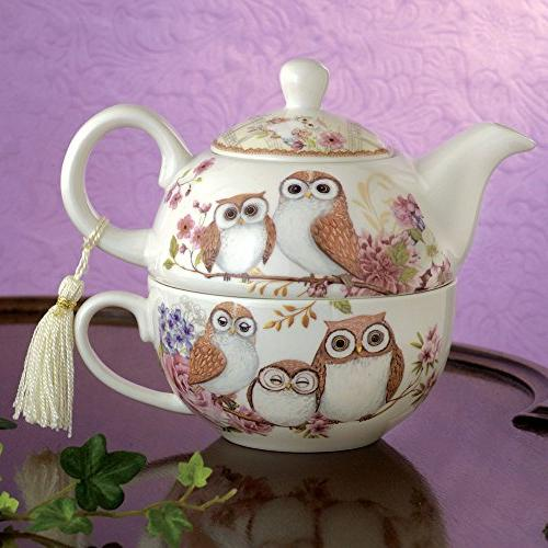 Bits Pieces Tea One Owls Porcelain Teapot -