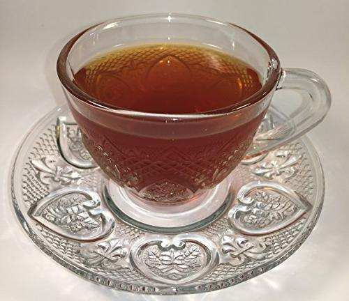 Cup & Saucer Set Glass Tea Glass 12 Piece Cup Saucer