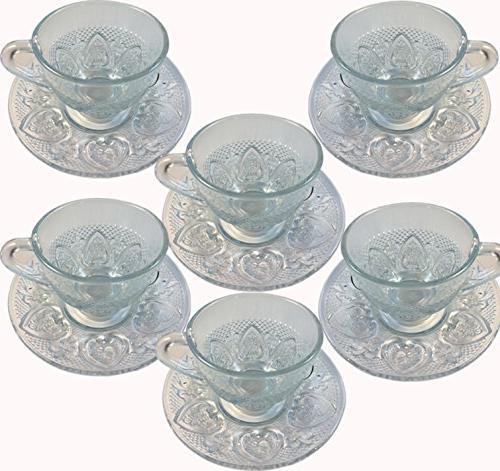 Cup & Glass Glass Saucer 12 Cup & Saucer