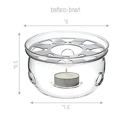 Glass Teapot Tea Warmer Lead Glass No Tea Beyond