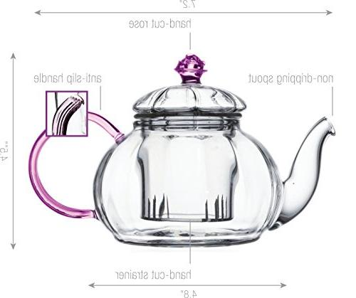 Glass Teapot with Glass by Tea