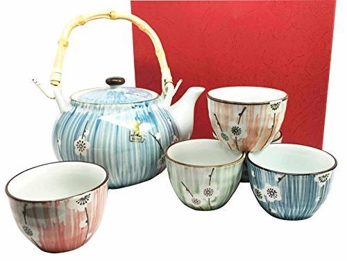 Ebros Gift Japanese Design Four Seasons White Cherry Blossom