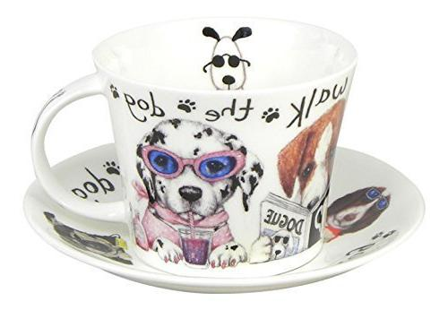 Roy Kirkham Animal Fashions Walk the Dog Large Breakfast Tea