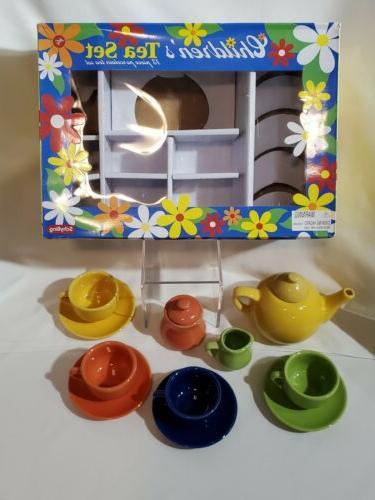 Schylling Children's Ceramic Tea Set