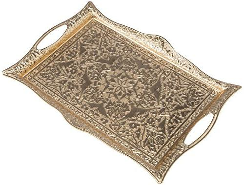 Turkish 6 - Brass Holders Tray Pcs