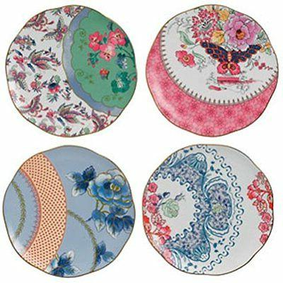 Wedgwood Harlequin Butterfly Bloom Plates, 8.25-Inch, Set of