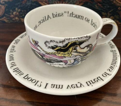 Alice In Party And Saucer Set Rare