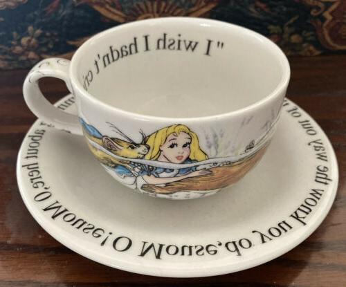 alice in wonderland tea party cup mug