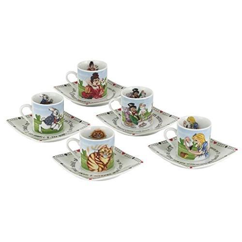 alice wonderland porcelain tea party