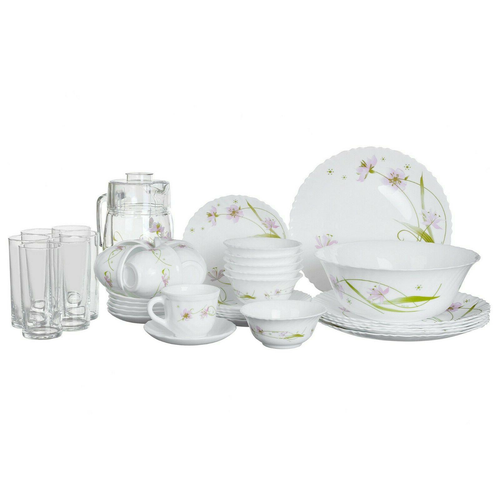 Luminarc Arcopal Selma 39 pc Glass Dinnerware Service / Tea