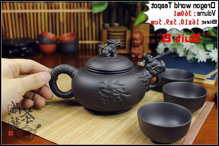 Fu <font><b>Tea</b></font> 360ml Dragon Kettle Yixing Teapots Zisha Porcelain