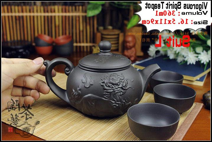 Authentic Fu Dragon Infuser Teapots Porcelain