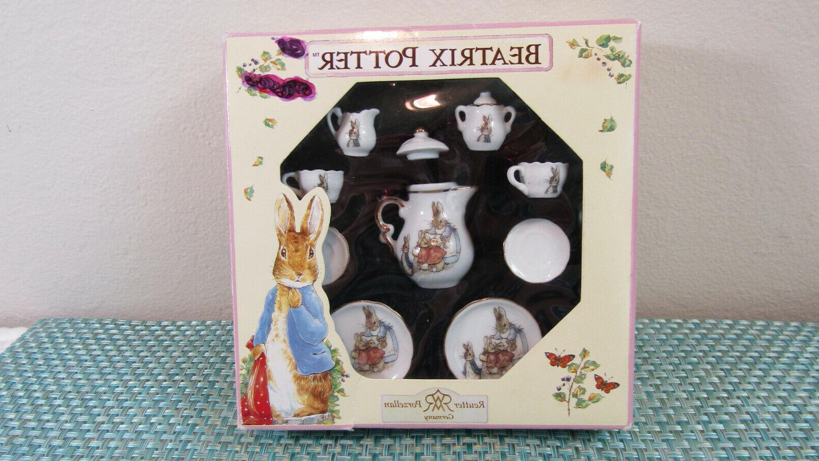 beatrix potter peter rabbit miniature porcelain tea
