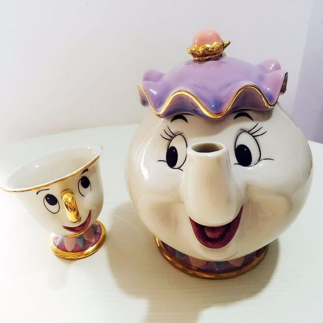 Beauty And The Beast Tea Set Mrs Potts Chip Teapot Cup Ceram