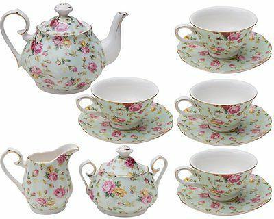 Gracie by Imports Rose Chintz 11-Piece Tea Set