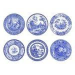 Spode - Blue Room - Georgian Plates Set Of 6