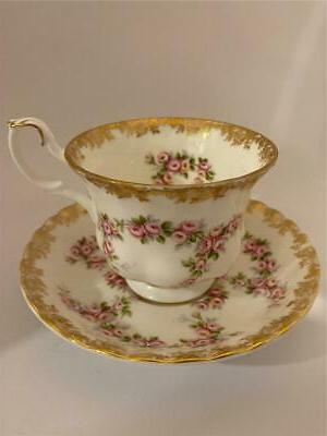 bone china dimity rose tea cup